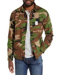 olivgrüne Camouflage Shirtjacke