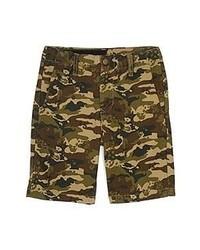 olivgrüne Camouflage Shorts