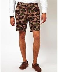 olivgrüne Camouflage Shorts von Asos