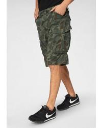olivgrüne Camouflage Shorts von G-Star RAW