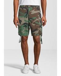 olivgrüne Camouflage Shorts von Replay