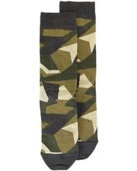 olivgrüne Camouflage Socken
