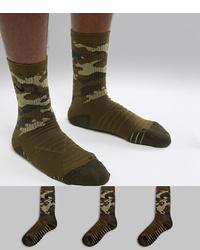 olivgrüne Camouflage Socken von Nike Training