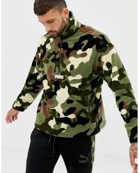olivgrüne Camouflage Windjacke von Puma