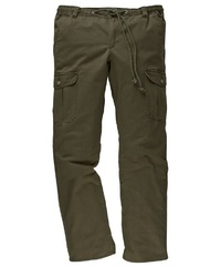 olivgrüne Cargohose von MEN PLUS BY HAPPY SIZE
