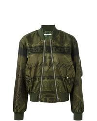 olivgrüne Daunenjacke von Givenchy