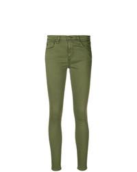 olivgrüne enge Jeans von AG Jeans