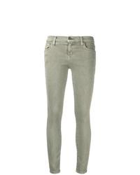 olivgrüne enge Jeans von Current/Elliott