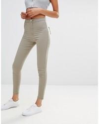 olivgrüne enge Jeans von Missguided
