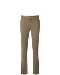 olivgrüne enge Jeans von Twin-Set