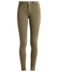 olivgrüne enge Jeans von Vila