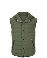 olivgrüne gesteppte ärmellose Jacke von CK Calvin Klein
