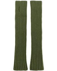 olivgrüne Handschuhe von Balmain