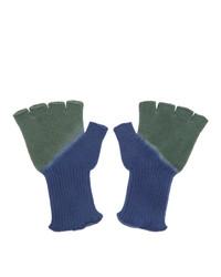 olivgrüne Handschuhe von The Elder Statesman