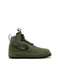 olivgrüne hohe Sneakers aus Leder von Nike