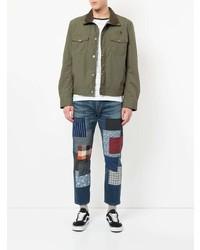 olivgrüne Jacke mit einer Kentkragen und Knöpfen von Junya Watanabe MAN