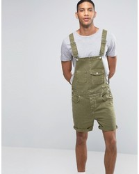 olivgrüne Jeansshorts