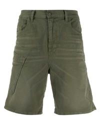 olivgrüne Jeansshorts von Diesel