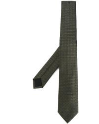 olivgrüne Krawatte mit Sternenmuster von Givenchy