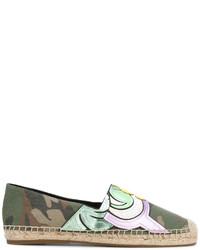 olivgrüne Leder Espadrilles von Marc Jacobs