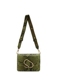 olivgrüne Leder Umhängetasche mit Schlangenmuster von 3.1 Phillip Lim