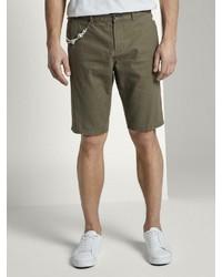 olivgrüne Leinen Shorts von Tom Tailor