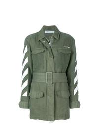olivgrüne Militärjacke von Off-White