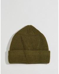 olivgrüne Mütze von Asos