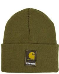 olivgrüne Mütze von Carhartt