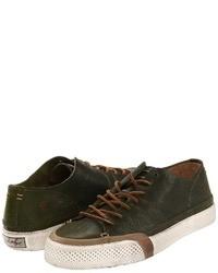 olivgrüne niedrige Sneakers