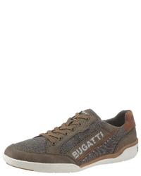 olivgrüne Segeltuch niedrige Sneakers von Bugatti