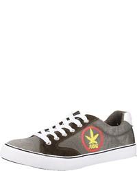 olivgrüne Segeltuch niedrige Sneakers von Chiemsee