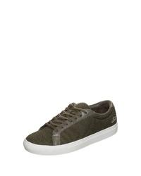 olivgrüne Segeltuch niedrige Sneakers von Lacoste