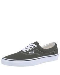 olivgrüne Segeltuch niedrige Sneakers von Vans