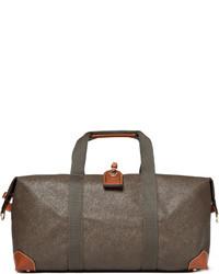 olivgrüne Segeltuch Reisetasche von Mulberry