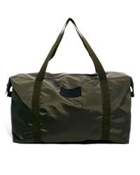 olivgrüne Segeltuch Reisetasche von Selected