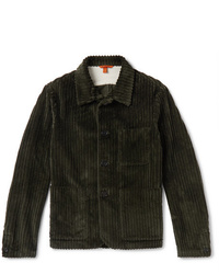 olivgrüne Shirtjacke aus Cord von Barena