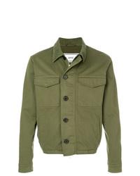 olivgrüne Shirtjacke von AMI Alexandre Mattiussi