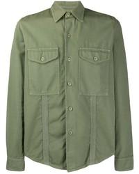 olivgrüne Shirtjacke von Ami Paris