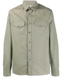 olivgrüne Shirtjacke von Brunello Cucinelli