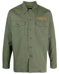 olivgrüne Shirtjacke von Deus Ex Machina