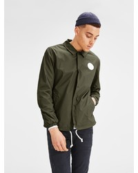 olivgrüne Shirtjacke von Jack & Jones