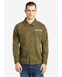 olivgrüne Shirtjacke von khujo
