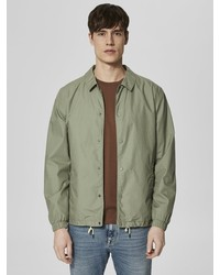 olivgrüne Shirtjacke von Selected Homme