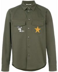 olivgrüne Shirtjacke von Valentino