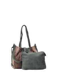 olivgrüne Shopper Tasche aus Leder von EMILY & NOAH