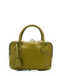 olivgrüne Shopper Tasche aus Leder von Golden Goose Deluxe Brand