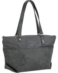 olivgrüne Shopper Tasche aus Leder von Zwei