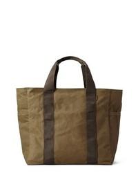 olivgrüne Shopper Tasche aus Segeltuch