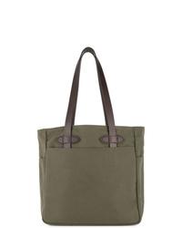 olivgrüne Shopper Tasche aus Segeltuch von Filson